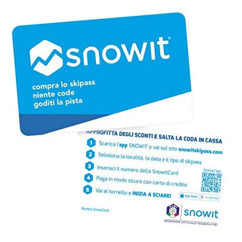 2 x Snowitcard - Tessera skipass Multi località