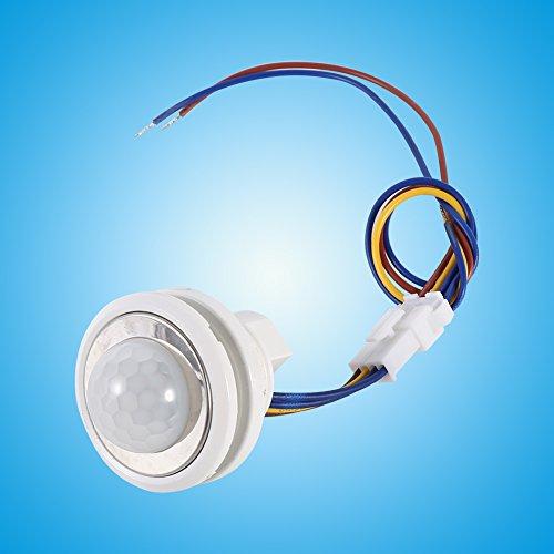 Interruptor de infrarrojos, Sensor de ocupación aplicable Luz de la luz de 45 segundos Apague el tiempo con plástico 1pc