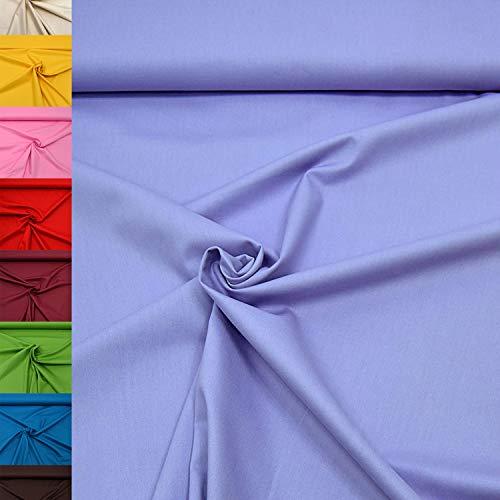 MAGAM-Stoffe Sophie Baumwollstoff Uni 100% Baumwolle Oeko-Tex Meterware 50cm (12. Flieder)