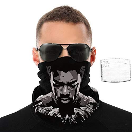 VOROY King Wakanda T 'Challa - Collar con 6 filtros para protección facial, bufandas negras para niño de 9.8 x 19.7 cm