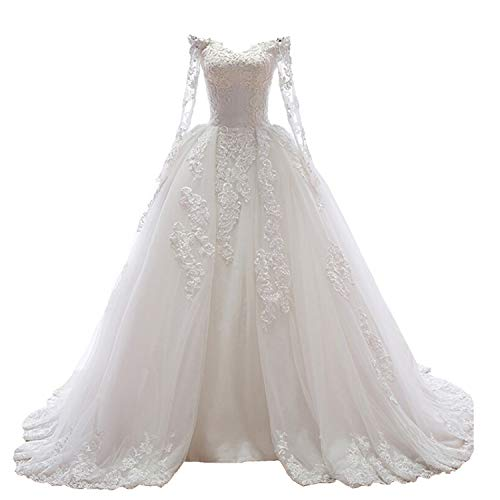 Sweetheart Off the Shoulder Princess Wedding Dress