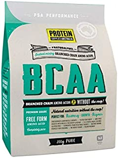 Protein Supplies Australia Pure Branched Chain Amino Acids Powder 200 g, Pure, 200 g