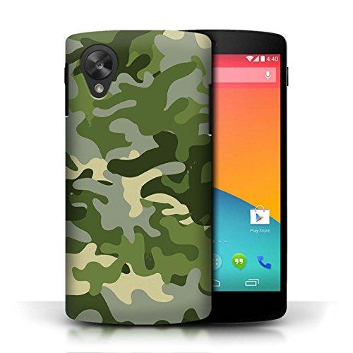 Hülle Für LG Google Nexus 5/D821 Armee/Tarnung Grün 1 Design Transparent Ultra Dünn Klar Hart Schutz Handyhülle Case