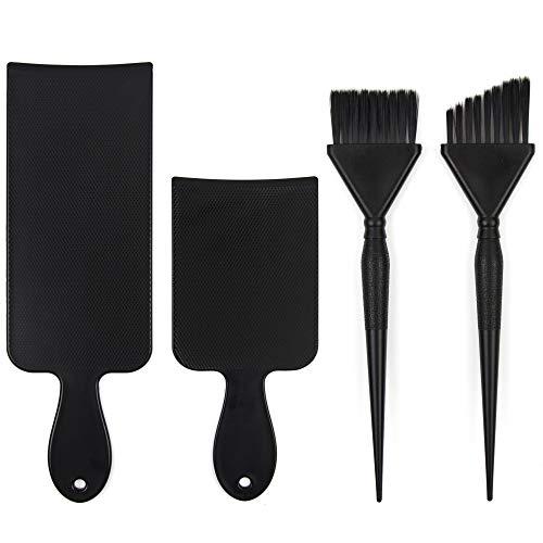 Balayage Kit - 1 Long and 1 Short Balayage Board, 1 Straight and 1 Angled Hair Dye Brush - Hair Highlighting Kit - Hair Dye Kit - Hairstylist Accessories Brushes