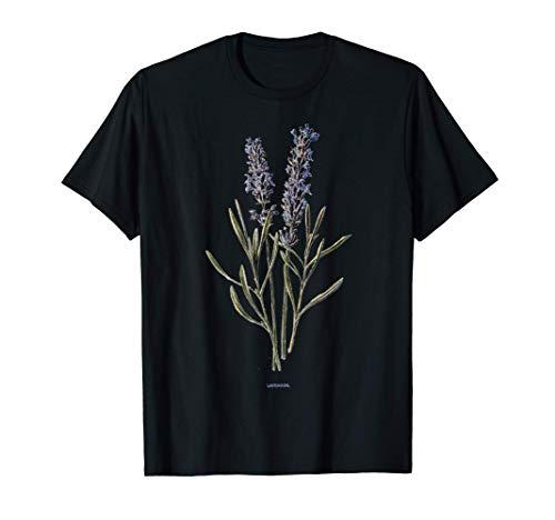 Lavender Botanical Print Lavandula Vera Plant T-Shirt