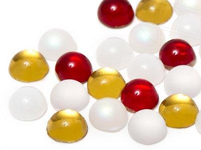gogoritas Cabochons | Verre Nuggets | Pierres de gemme | Rond, 3.5-4.0mm, Love Wedding Mix, 300 Pièces