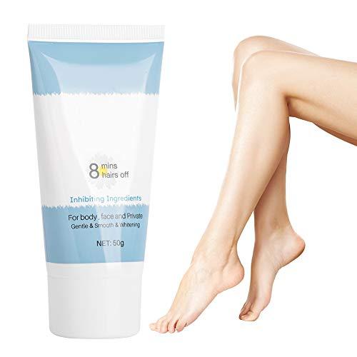 50g Crema depilatoria, Crema depilatoria, Crema depilatoria apta para la piel para mujeres y hombres para todo tipo de piel Cara, brazo, pierna, axila