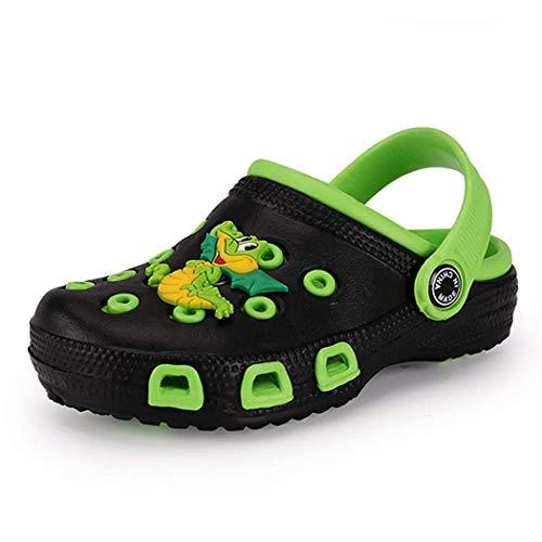 Veluckin Clogs Kinder Gartenschuhe Jungen Mädchen Latschen für Kinder Pantoletten Badeschuhe Gummi Gartenclogs,Krokodil,33 EU