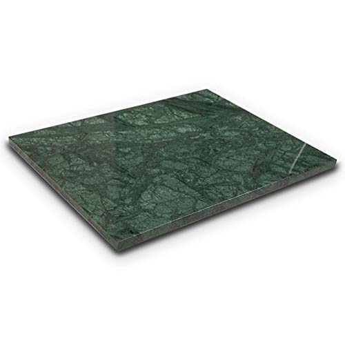 Soulscrafts Natural Green Marble Pastry Cheese And Cutting Board 16x12x0.5 Inch
