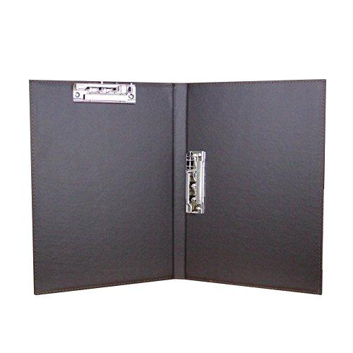 クリップボード a4 二つ折り ファイルケース 革 レバーファイル ビジネス オフィス バインダー 持ち運び フォルダー クリップファイル オフィス用品 書類入れ 多機能 事務用品 ブラウン
