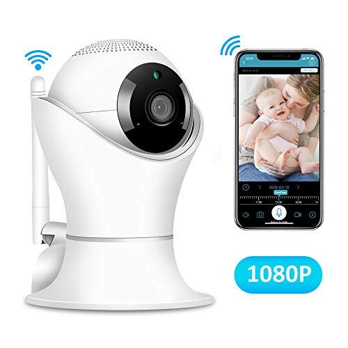 LNLJ Mini Draadloze 1080P IP HD Beveiligingscamera Thuis Indoor Monitoring Baby/Oude Man/Huisdier/Nanny Monitor, Pan/Tilt, Twee-weg Audio Nachtzicht en Bewegingsdetectie