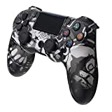 PS4 Controller, Wireless Gamepad Joystick Controller for Playstation 4, Dual Vibration Motor, LED Light Bar, Anti-Slip Grip,Touch Panel with All PS4 Models & PC