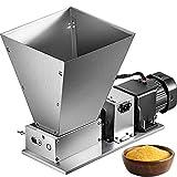 VEVOR Electric Grain Mill, Stainless Steel 2-Roller Barley Crusher, Homebrews Beer Brewing Grain Crusher Machine, for Grains Corn Barley Malt,11LBS Capacity,110V