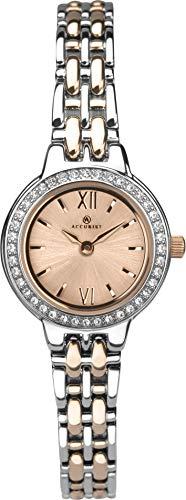 Accurist Reloj Analógico para Mujer de Cuarzo con Correa en Latón 8282