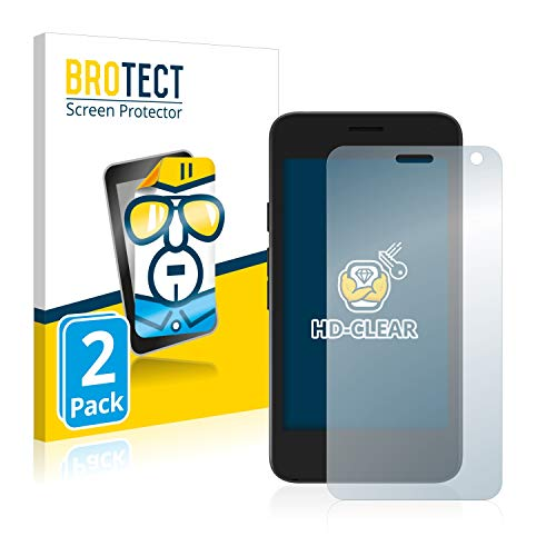BROTECT Schutzfolie kompatibel mit Archos Access 45 (2 Stück) klare Bildschirmschutz-Folie