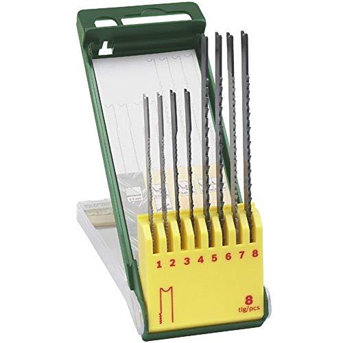 Bosch 8-delige decoupeerzaagblad-set, U-schacht, voor hout, metaal, kunststof, 2607019459