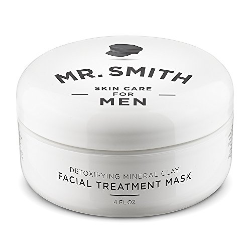 Mr Smith Co. Clay Face Mask for Men 4oz. Ageless Facial Treatment for Acne, Blackhead and Scar...