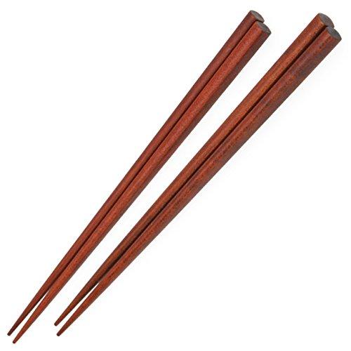 Élégant ensemble de baguettes (5paires)–Fait à la main en bois arbre de caroube