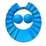 KKAAMYND Flexible weiche Eva Kinder verstellbare Duschhaube Babypflege Badeschutzkappe für Kinder Baby Wash Haarschutz Duschhaube, blau, Ohrschutz, sicher für den Gebrauch