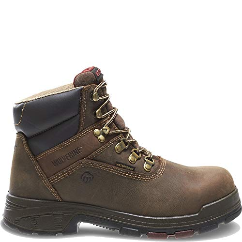 Wolverine Men's Cabor Waterproof 6-Inch Work Boot,Dark Brown,10.5 EW US
