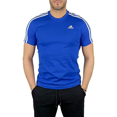 adidas ESS 3S tee Camiseta, Hombre, Azul (Reauni), XS/L