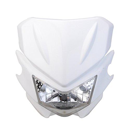 GOOFIT Motorrad Motocross Scheinwerfer Maske Verkleidungslicht Verkleidungs Lampshade Passt für KX125 KX250 KXF250 KXF450 KLX200 KLX250 KLX450 Weiß