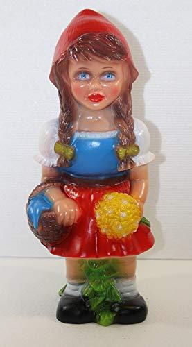 RAKSO Deko Figur Rotkäppchen Gartenfigur Mädchen Märchenfigur H 31 cm stehend