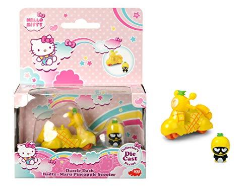 Dickie Toys 253241001 Hello Kitty Dazzle Dash XO Choco Cat Pineapple - Auto Giocattolo con Veicolo e Personaggio Rimovibile, Lunghezza Veicolo 6 cm, Misura 2,5 cm, dai 3 Anni in su.