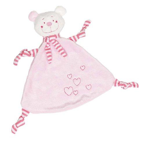*Cause 65114 – Kuscheltuch Bär mit Herzen, rosa*