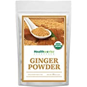 Healthworks Ginger Powder (16 Ounces / 1 Pound) | Ground | Raw | All-Natural & Certified Organic | Keto, Vegan | Great with Coffee, Tea & Juices | Superfood/Spice
