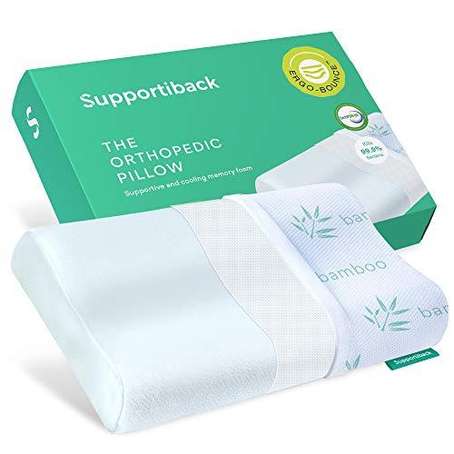 * Doctor ontworpen orthopedisch kussen - koel gevoel met gepatenteerde antibacteriële, ademende hoes - aangepaste ondersteuning in alle slaapposities - hypoallergeen traagschuim