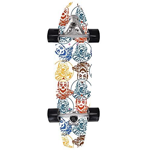 VOMI Skateboard Completo para Niñas Principiantes (80 * 23 * 12Cm) 8 Capas Arce Patineta De Surf, Doble Kick Trick Board para Adolescentes, con Rodamientos ABEC-11, CX7 Puent Soporte De Dirección,4
