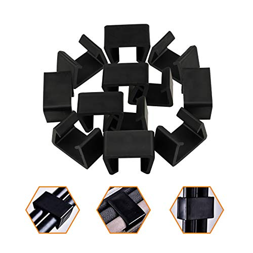 12pcs Sofa Connect Clamps for Patio Sectional Sofa Outdoor Wicker Chair Sofa Alignment Fasteners Clips Connector Module Couch Patio Rattan Furniture ( Medium )