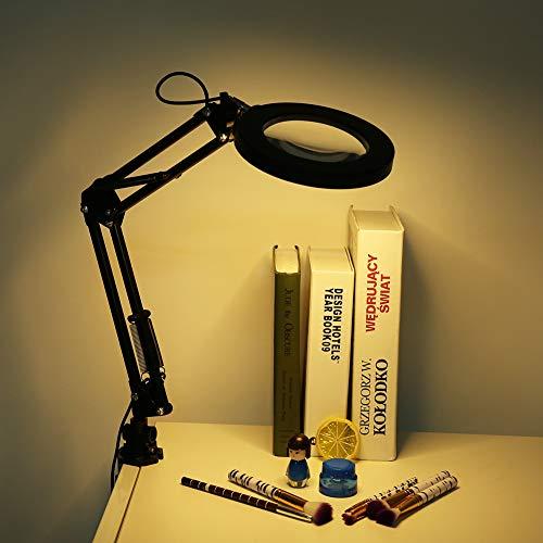 Lámpara de lupa LED, luz montada en abrazadera, alto brillo, duradera, uso amplio, luz de belleza, salón de uñas para salón de belleza, tatuaje, hogar