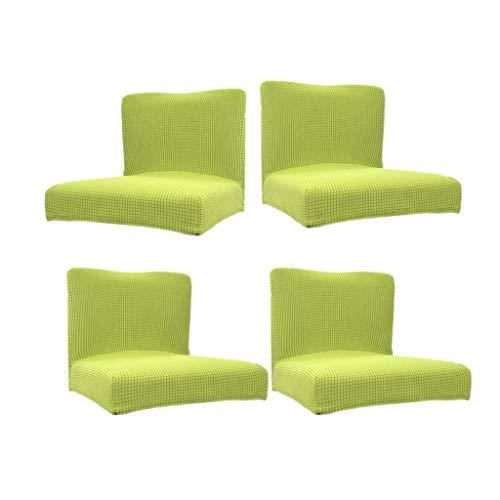 perfk Paquete de 4 Sillas de Taburete de Bar con Respaldo Corto Y Bajo Elástico de Spandex Verde