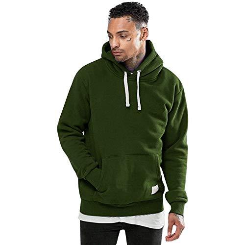MIRRAY Herren Winter Solide Fleece Pocket Hoodie warmes Sweatshirt Outwear Pullover Pullover