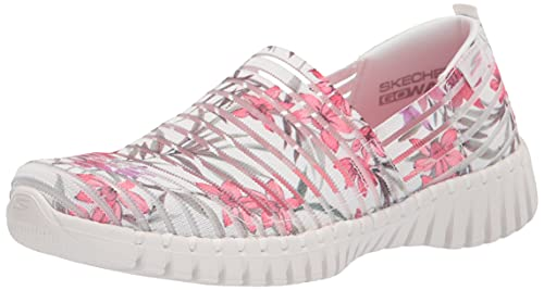 Skechers Damen GO Walk SMART FLORAL Slip ON Sneaker, Weiß/Mehrfarbig, 39.5 EU