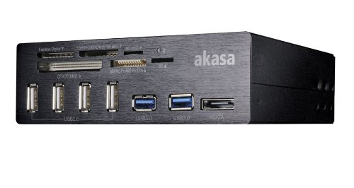 Akasa InterConnect PRO Lettore di schede USB 2.0/eSATA Nero