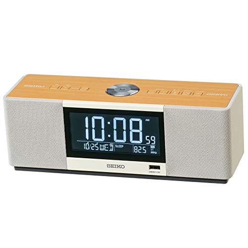 セイコー クロック 目覚まし時計 マルチサウンドクロック スピーカー ラジオ聴取 アラーム デジタル Bluetooth 白 SS501A SEIKO