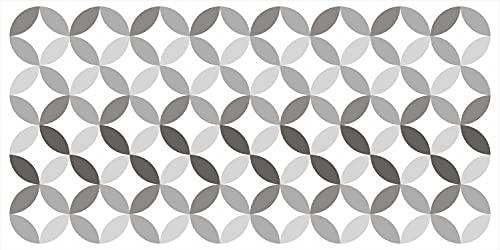 Alfombra de Vinilo con Estampado Geométrico Usos Variados Moqueta Vinílica Lavable Antideslizante (40x80 cm, Hada Negra)