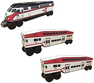 CalTrain MP-36 - 3 Car Set Wooden Toy Train by Whittle Shortline Railroad - Manufacturer