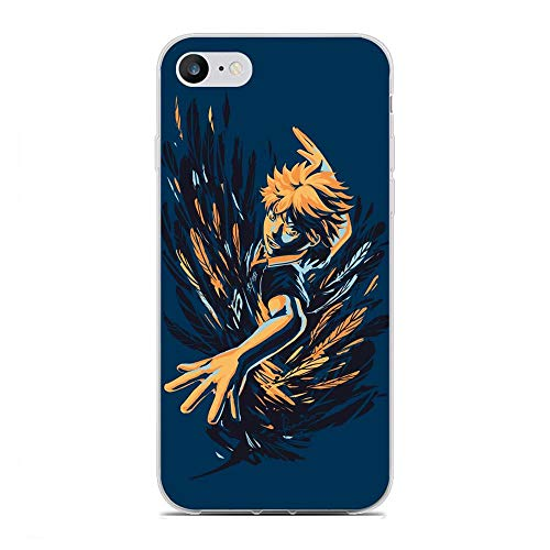 Soft Clear Coque Transparent Anti-Slip Shockproof Case Cover For Apple iPhone 6/6s-Haikyuu-Hinata Japanese 8