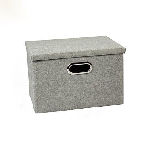 KKY-ENTER Gris clair Boîte de rangement Boîte de rangement Boîte de rangement Boîte de rangement Boîte de rangement à grande capacité (taille : 39 * 27 * 25cm)