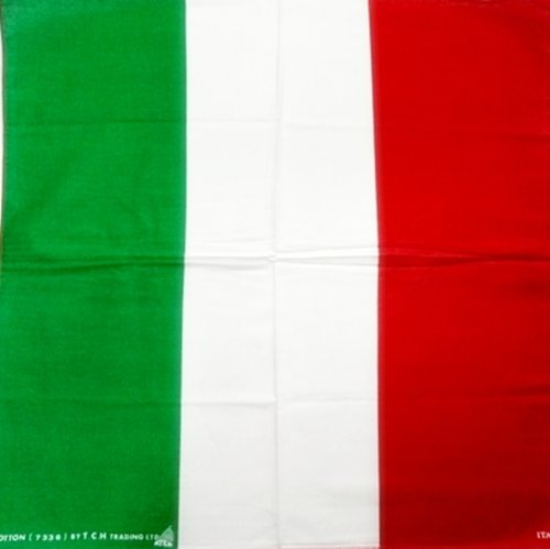 1x Italian Italy Flag 20 inches Cotton HEAD / NECK SCARF BANDANA Handkerchief for Biker Motorcycle Superbike