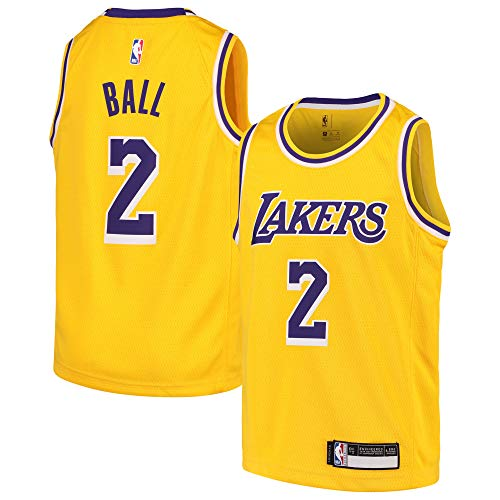 Lonzo Ball Los Angeles Lakers #2 Youth Gold Home Swingman Jersey (Small 8)