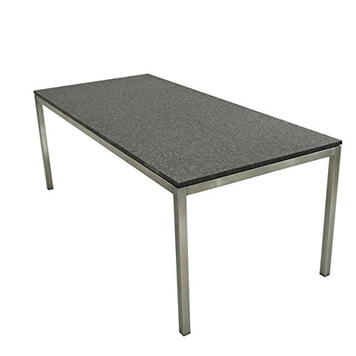 SIT Mobilia Gartentisch Modell Kubu Economy Edelstahl / Granit 160 x 90cm