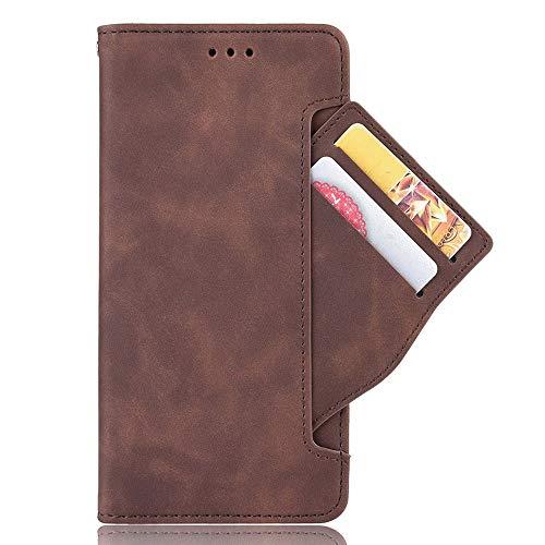 HAOYE Hülle für Xiaomi Poco F2 Pro 5G Hülle, Handyhülle Xiaomi Poco F2 Pro 5G Flip Hülle Brieftasche Schutzhülle, Premium Leder mit Ständer Funktion und Kartenfach und Magnetic Snap Cover, Braun