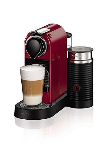 NESPRESSO KRUPS Citiz and Milk XN761540 Pod Coffee Machine-Red