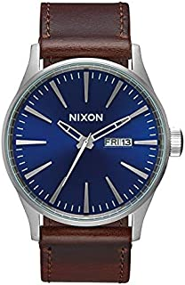 Nixon Men's A105 Sentry 42mm Stainless Steel Leather...