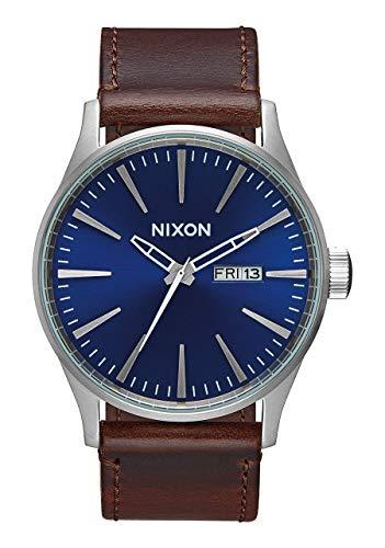Nixon Reloj Analógico para Hombre de Cuarzo con Correa en Cuero A105-1524-00